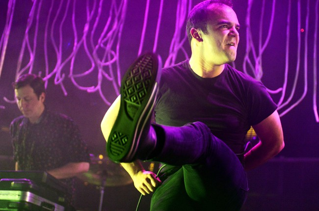 Samuel Herring of Future Islands performs at ACL Live at the Moody Theatre during the SXSW
