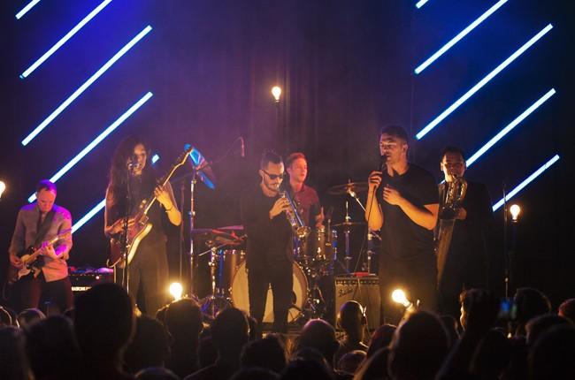 San Fermin perform at Williamsburg Music Hall in Brooklyn, New York on April 24, 2015