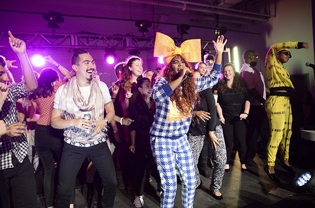 Santigold performs during 2015 Meatpacking District's Open Market Weekend Festival Kick Off