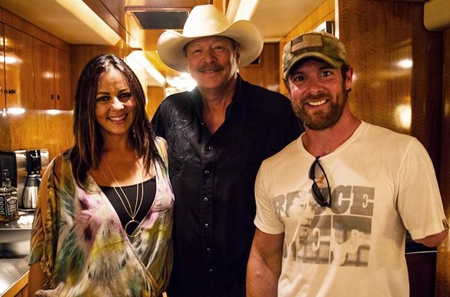 Sara Evans, Alan Jackson and Noah Galloway (Veteran, Dancing with the Stars Season 20) from Pepsi's Rock the South