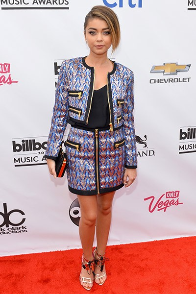Sarah Hyland on the red carpet at the 2014 Billboard Music Awards