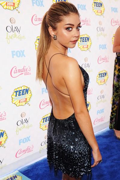 Sarah Hyland attends FOX's 2014 Teen Choice Awards
