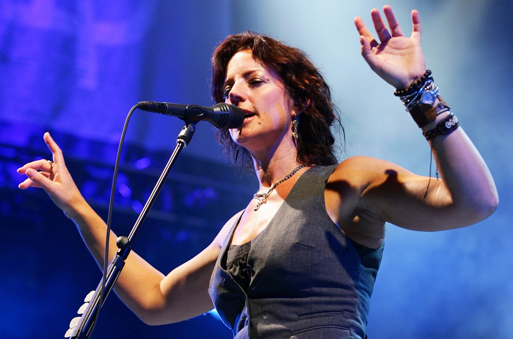 Sarah McLachlan performs at the 2010 Lilith Fair at Capital Federal Park at Sandstone on July 15, 2010 in Bonner Springs, Kan.