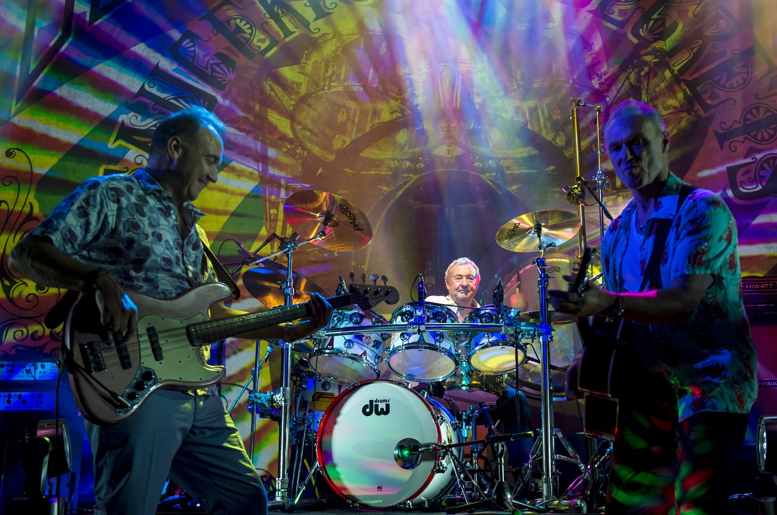 Guy Pratt, Nick Mason and Gary Kemp perform on stage with Nick Mason's Saucerful Of Secrets at The Roundhouse, London on Sept. 24, 2018