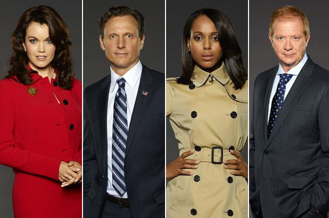 Scandal cast- Bellamy Young,Tony Goldwyn, Kerry Washington, Jeff Perry