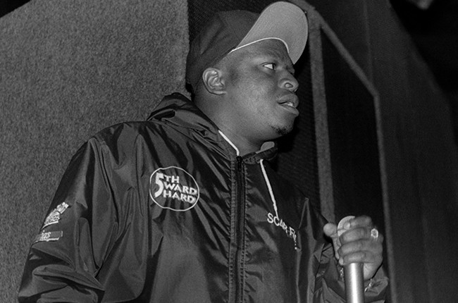 Rapper Scarface of the Geto Boys performs at the Regal Theater in Chicago 1992