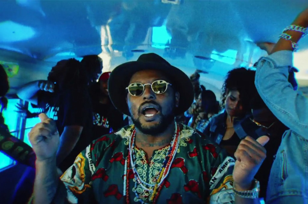 "Schoolboy Q in the video for ""THat Part"" feat. Kanye West."