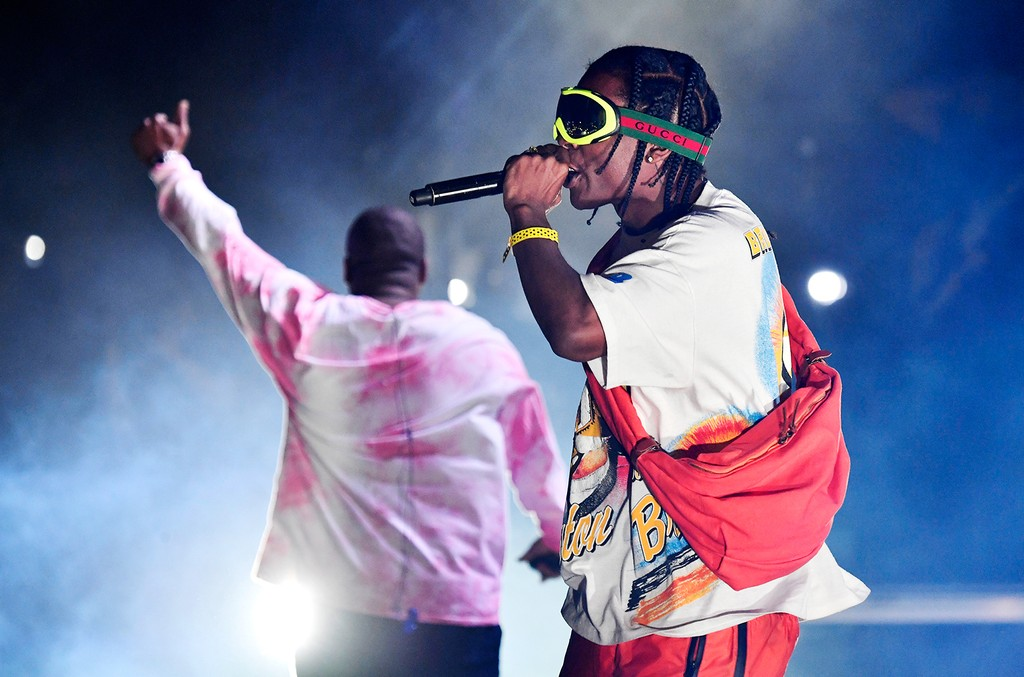 ScHoolboy Q and A$AP Rocky performs at the Outdoor Stage during day 2 of the Coachella Valley Music And Arts Festival (Weekend 1) at the Empire Polo Club on April 15, 2017 in Indio, Calif.
