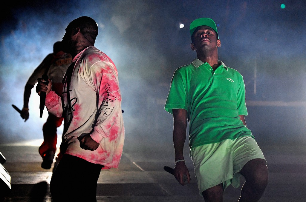 ScHoolboy Q and Tyler the Creator perform at the Outdoor Stage during day 2 of the Coachella Valley Music And Arts Festival (Weekend 1) at the Empire Polo Club on April 15, 2017 in Indio, Calif.