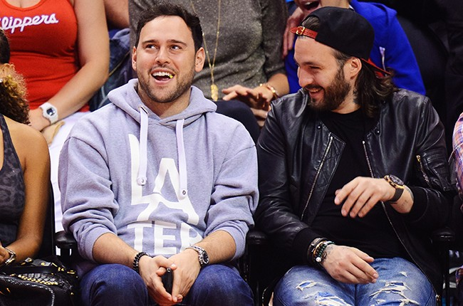 Scooter Braun at LA CLippers 2014 Playoff Game