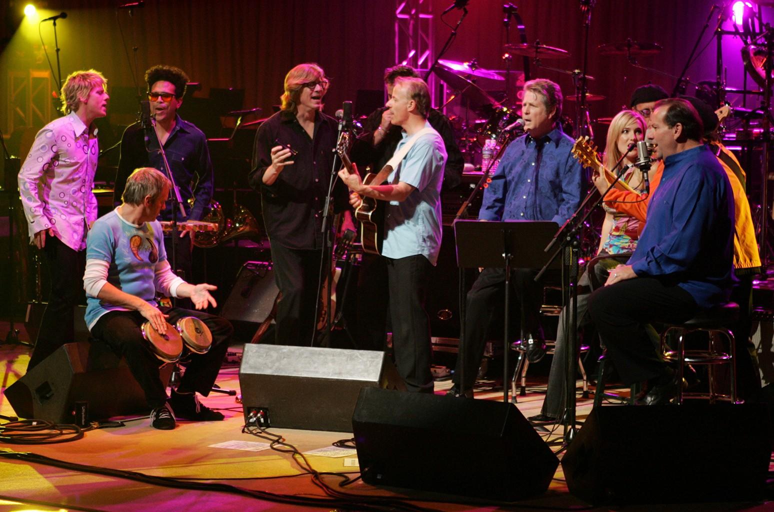 Scott Montgomery Bennett performs with Brian Wilson