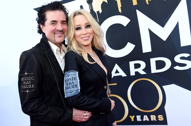 Founder of Big Machine Label Group Scott Borchetta and Sandi Borchetta attend the 50th Academy Of Country Music Awards