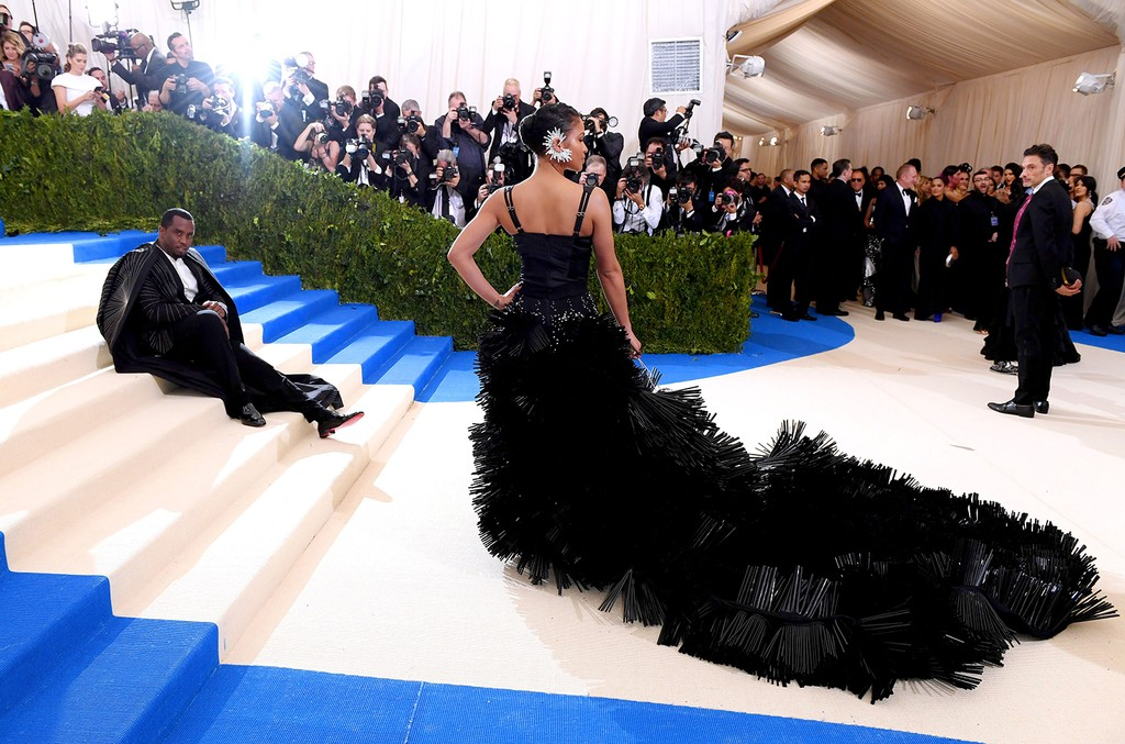 "Sean Combs and Cassie Ventura attend the ""Rei Kawakubo/Comme des Garcons: Art Of The In-Between"" Costume Institute Gala at Metropolitan Museum of Art on May 1, 2017 in New York City."