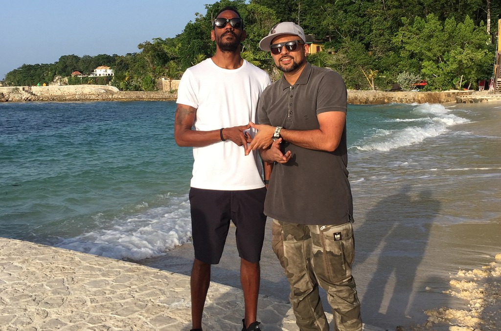 Darcus Beese and Sean Paul in Jamaica.