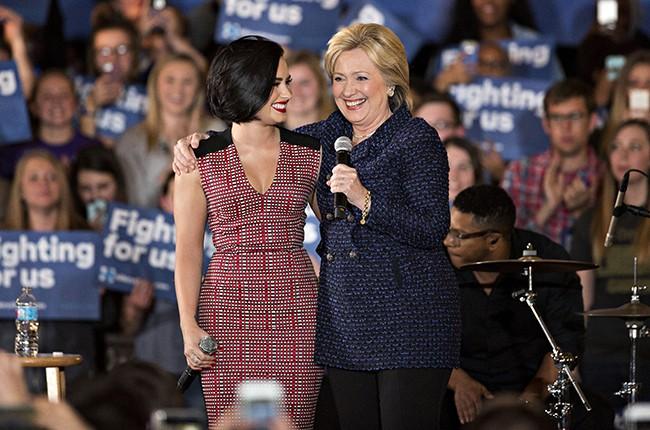 Demi Lovato Hillary Clinton