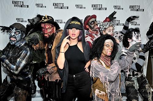 Selena Gomez visits Knott's Scary Farm