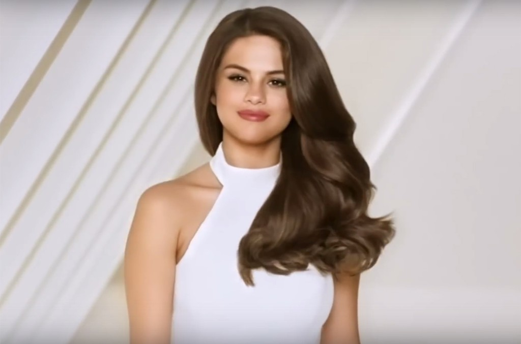 Selena Gomez in a commercial for Pantene.