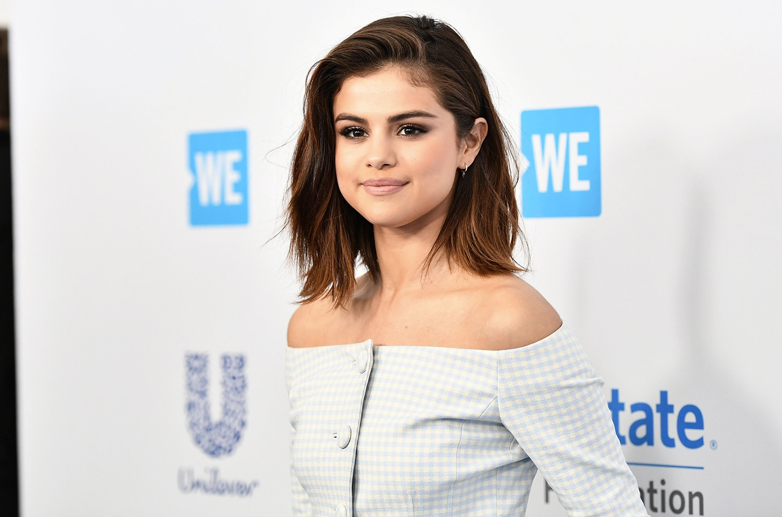 Selena Gomez arrives at WE Day California on April 27, 2017 in Los Angeles.