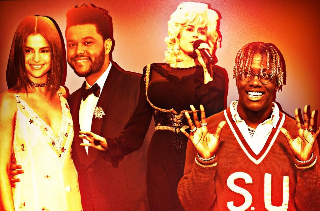 Selena Gomez, The Weeknd, Miley Cyrus & Lil Yachty