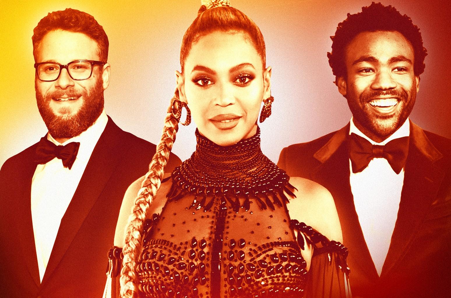 Seth Rogan, Beyoncé & Donald Glover