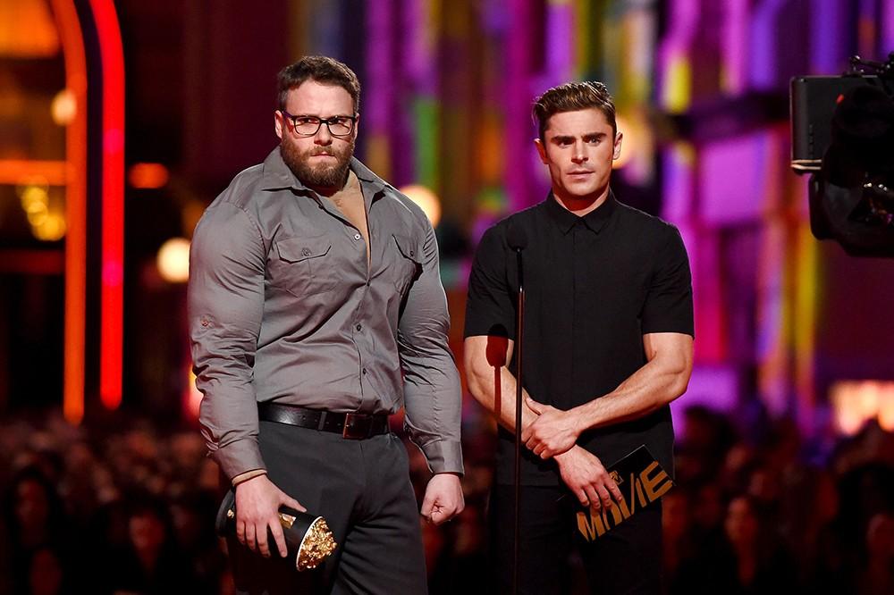 Seth Rogen and Zac Efron  2016 mtv movie awards