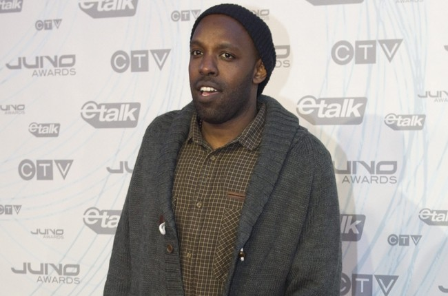 new cbc host Shad Kabango poses on the red carpet at the 2011 JUNO Awards