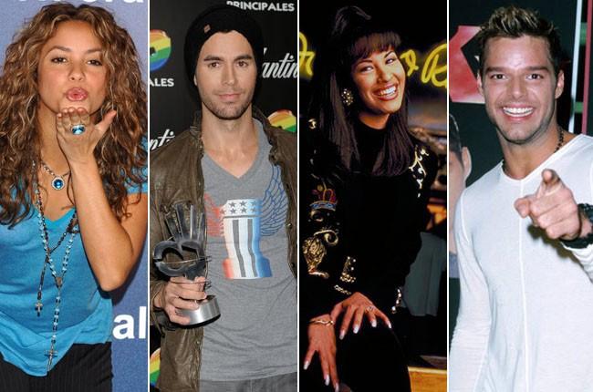 Shakira, Enrique Iglesias, Selena, Ricky Martin