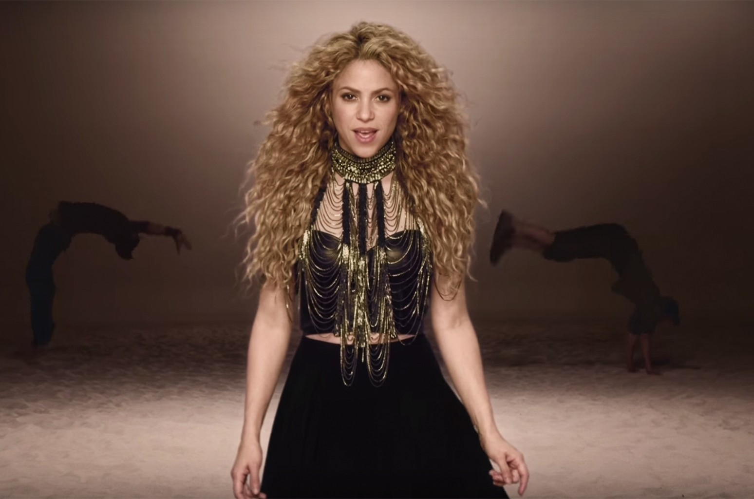 Shakira in the video for La La La