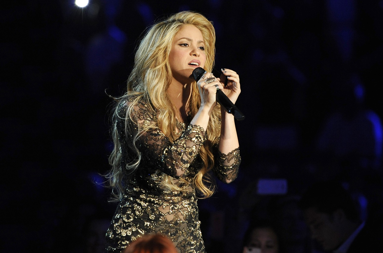 Shakira performs at the Billboard Music Awards at the MGM Grand Garden Arena on May 18, 2014 in Las Vegas.
