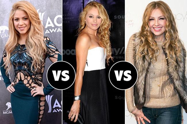 Shakira VS. Paulina Rubio VS. Thalia
