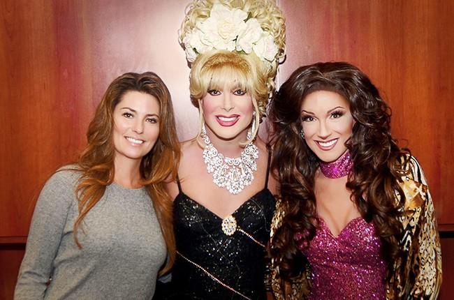 Shania Twain meets her drag queen impersonator
