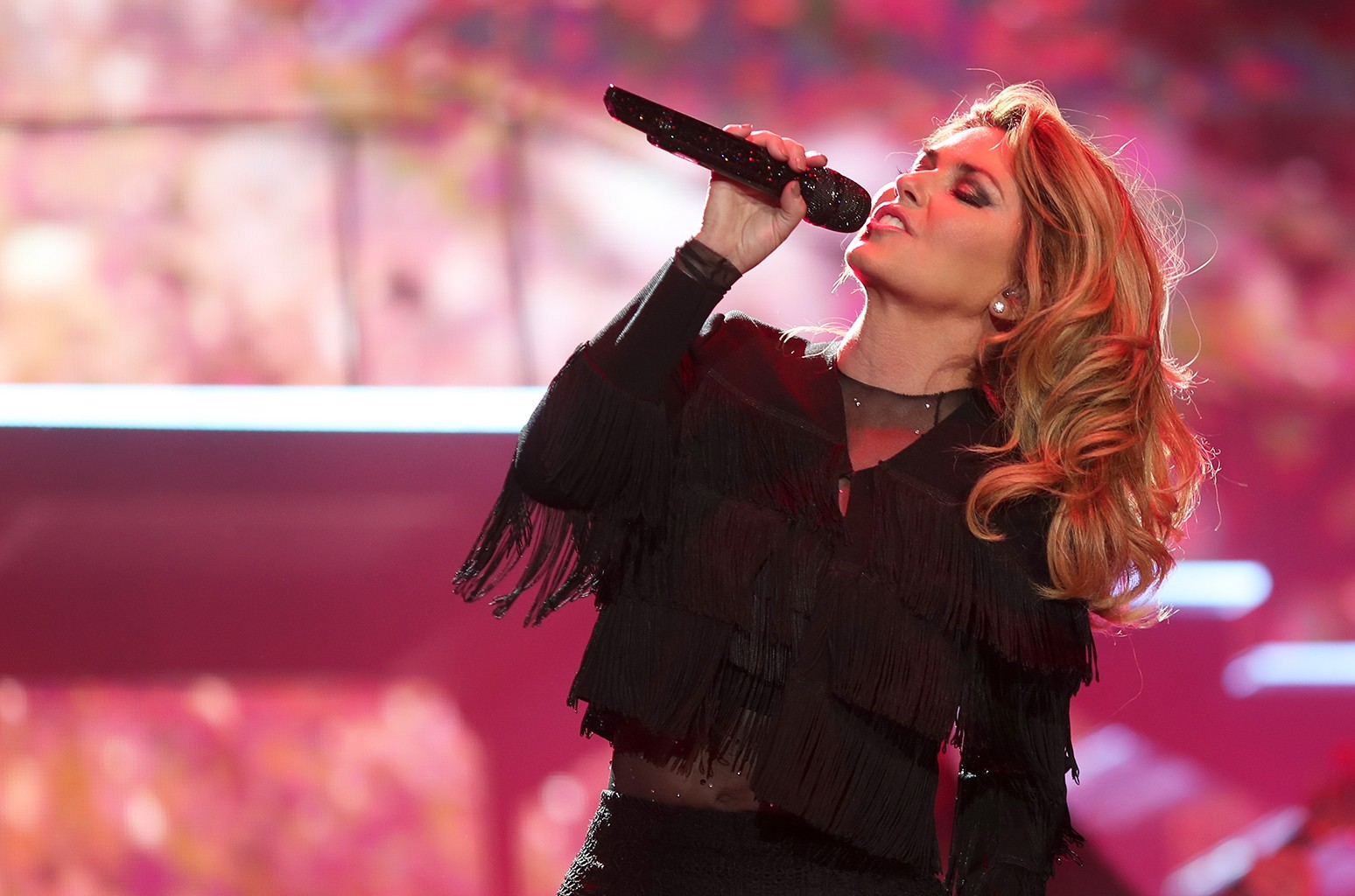 Shania Twain performs on the Toyota Mane Stage during day 2 of 2017 Stagecoach California's Country Music Festival at the Empire Polo Club on April 29, 2017 in Indio, Calif.