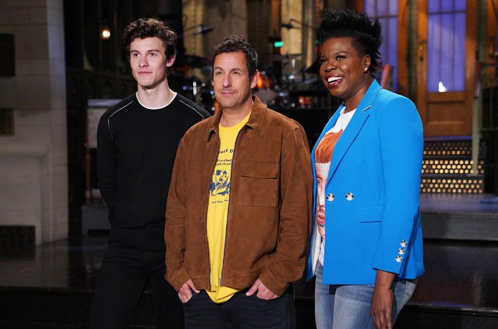 Shawn Mendes, Adam Sandler and Leslie Jones