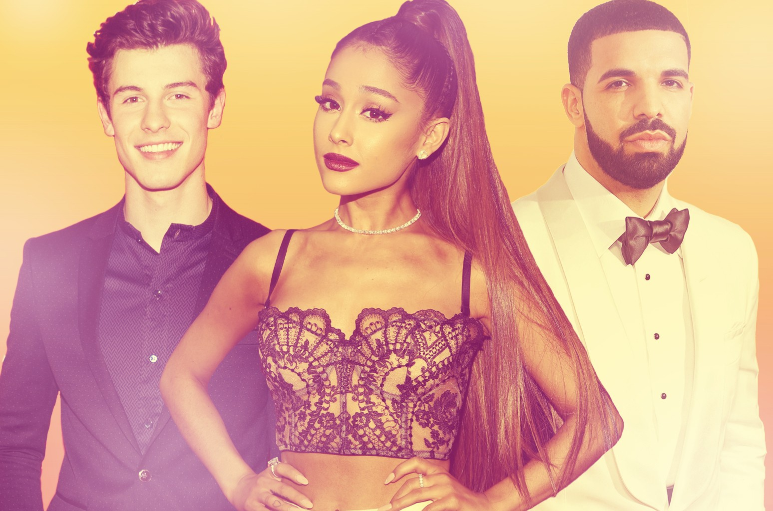 Shawn Mendes, Ariana Grande, Drake