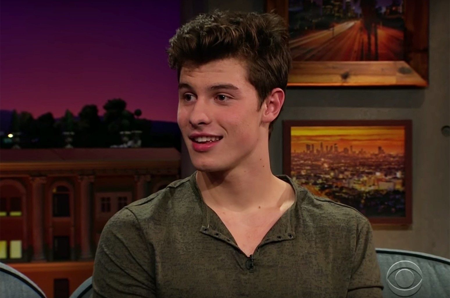 Shawn Mendes on The Late Late Show with James Corden.