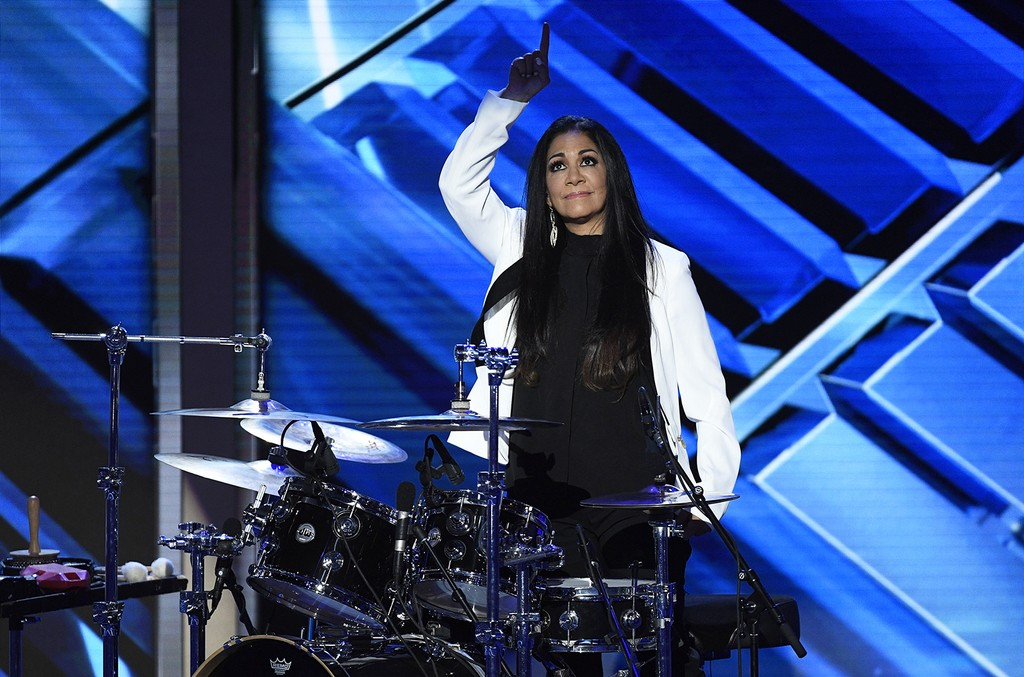 Sheila E performs during the Democratic National Convention