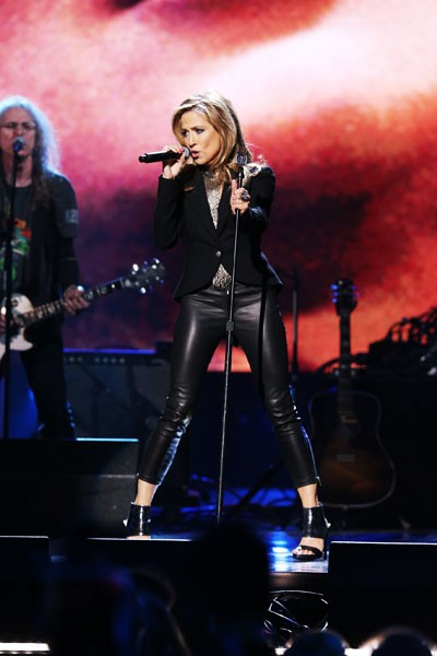 Sheryl Crow performs at the 2014 Rock and Roll Hall of Fame Ceremony