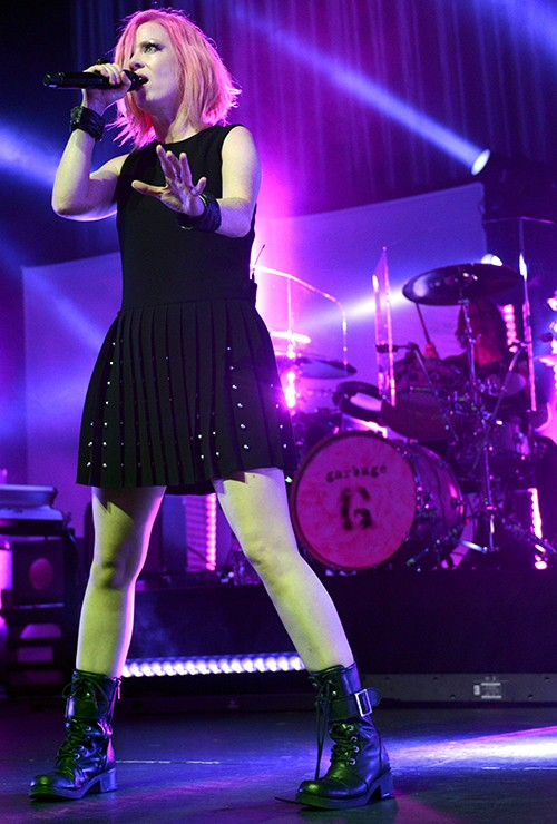 """Shirley Manson of Garbage performs during the band's """"20 Years Queer Tour"""""""