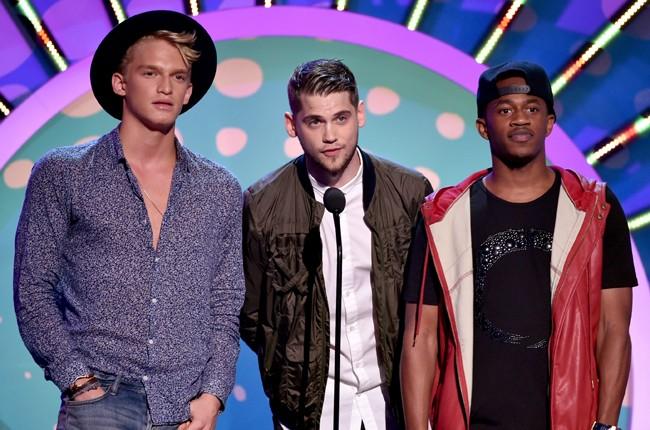 Cody Simpson and MKTO during FOX's 2014 Teen Choice Awards