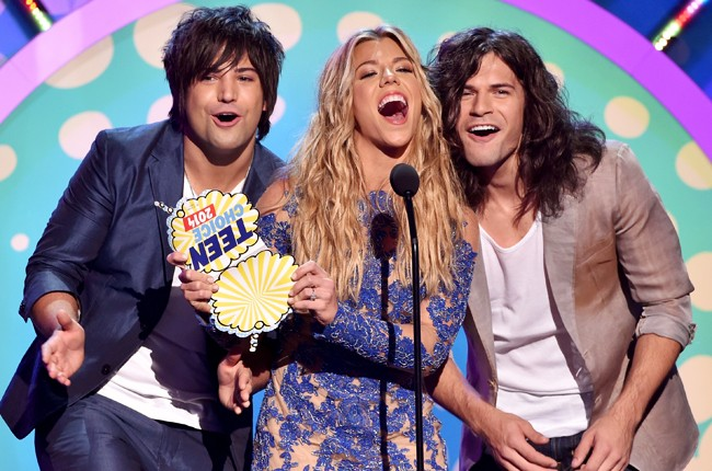 The Band Perry onstage during FOX's 2014 Teen Choice Awards