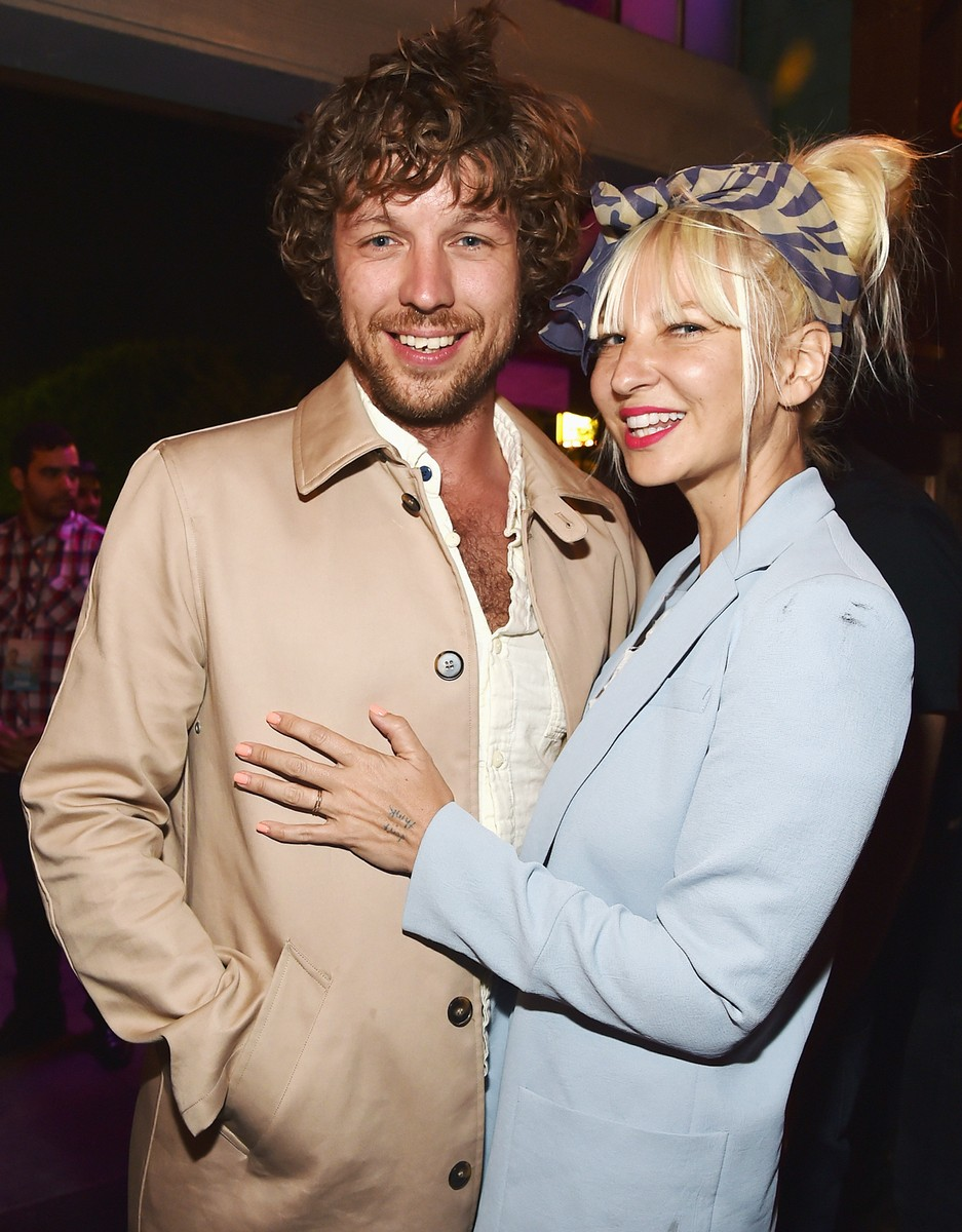 """Erik Anders Lang and Sia attend the after party for the premiere of RADIUS-TWC's """"The One I Love"""" at Umami Burger on Aug. 7, 2014 in Los Angeles."""