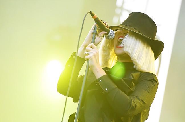 Sia performs onstage during 102.7 KIIS FM's 2015 Wango Tango