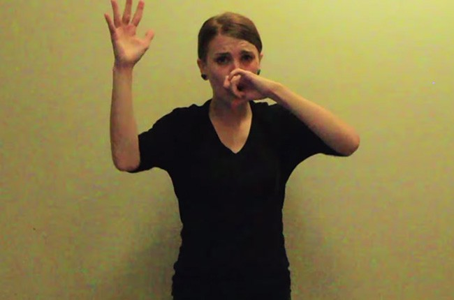 Sign Language Eminem Loose Yourself