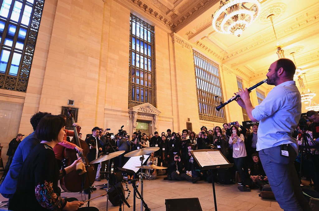 Members of The Silk Road Ensemble perform during day one of Grand Central Interactive Experience for the HBO Documentary The Music of Strangers: Yo-Yo Ma & The Silk Road Ensemble at Vanderbilt Hall at Grand Central Terminal on Feb. 28, 2017 in New York Ci