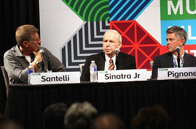 Bob Santelli, Frank Sinatra Jr, and Charles Pignone