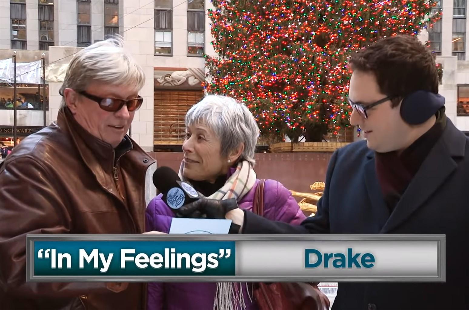 "People sing along to Drake's ""In My Feelings."""