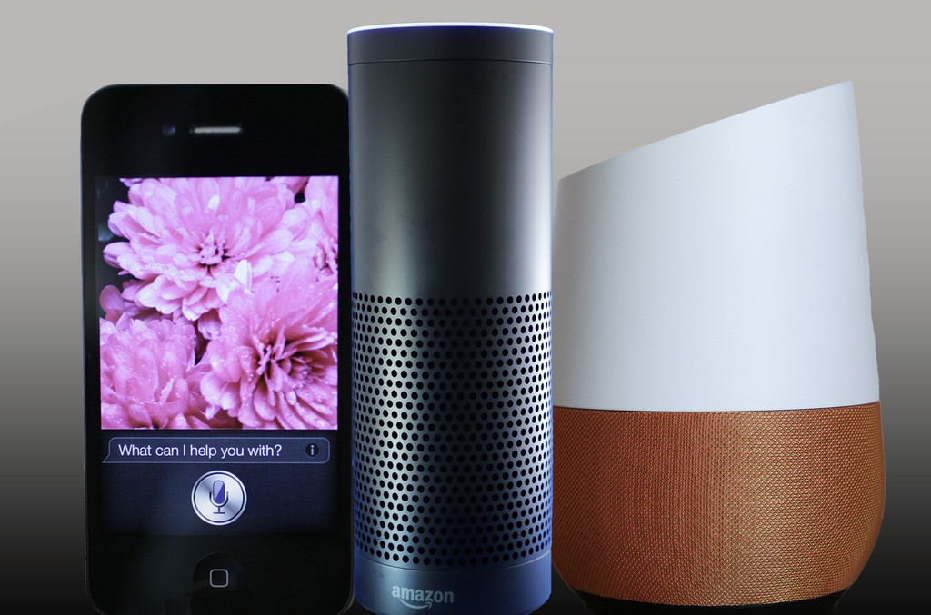 Amazon Echo Google Home Siri
