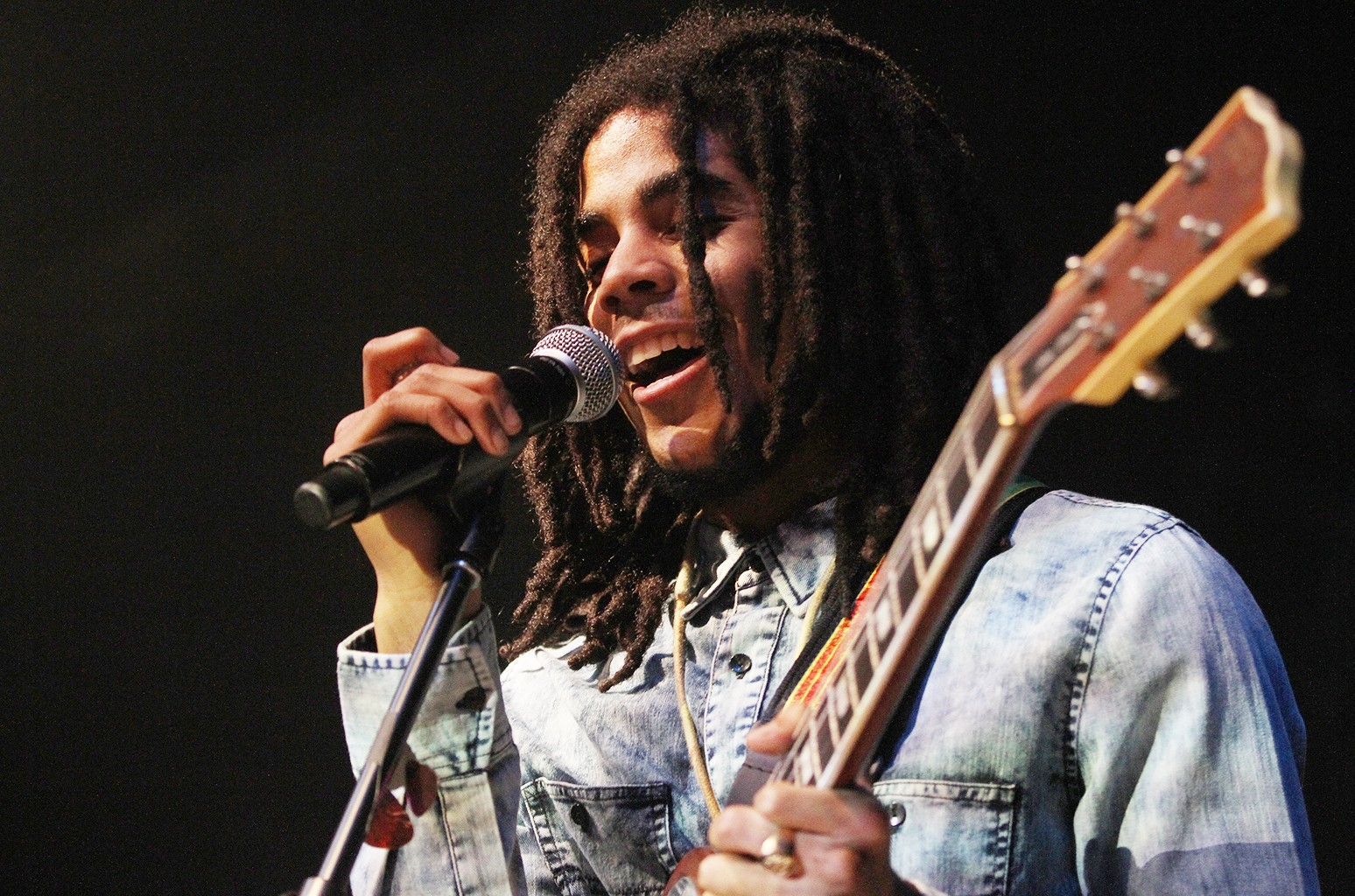 Skip Marley performs at The Paramount on Sept. 1, 2015 in New York City.