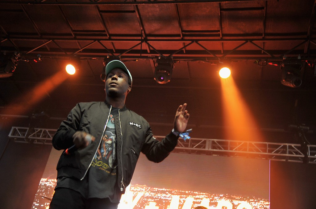 Skizzy mars performs at the 2016 Billboard Hot 100 Festival