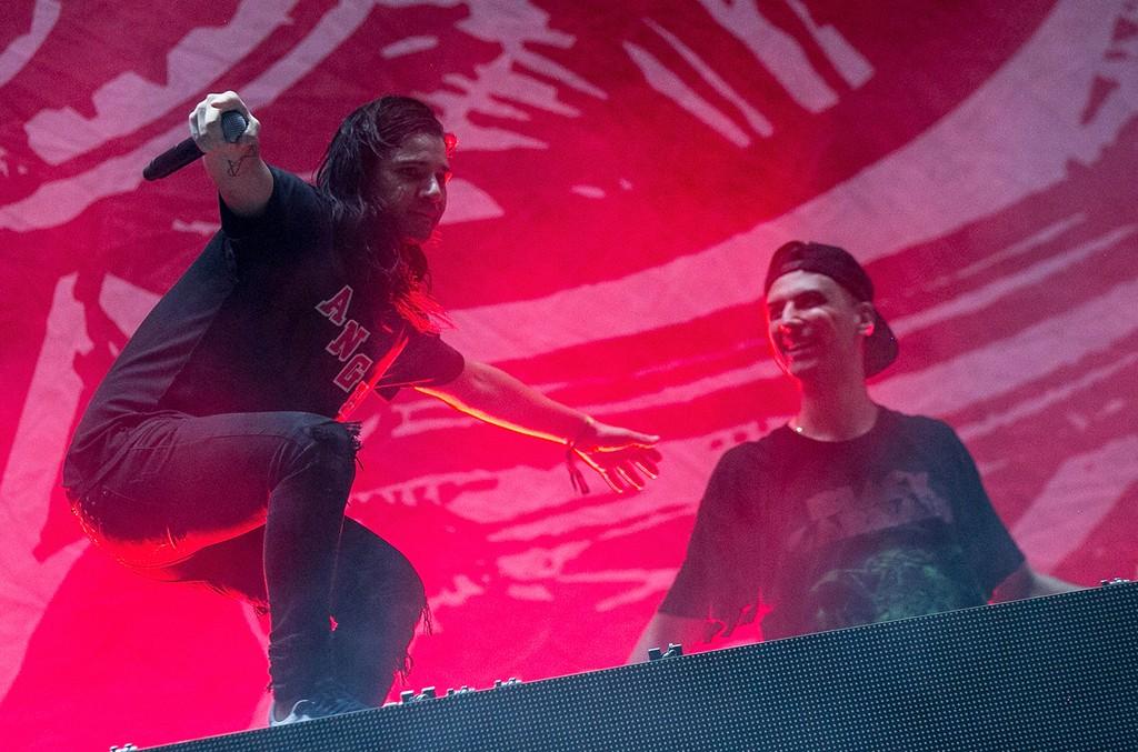 Skrillex and Boys Noize of Dog Blood perform at Hard Summer Music Festival